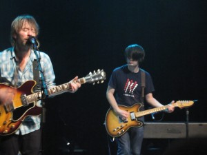 Thom Yorke and Jonny Greenwood