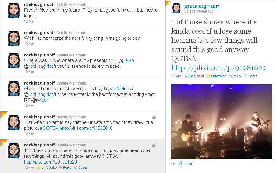 QOTSA Tweet review