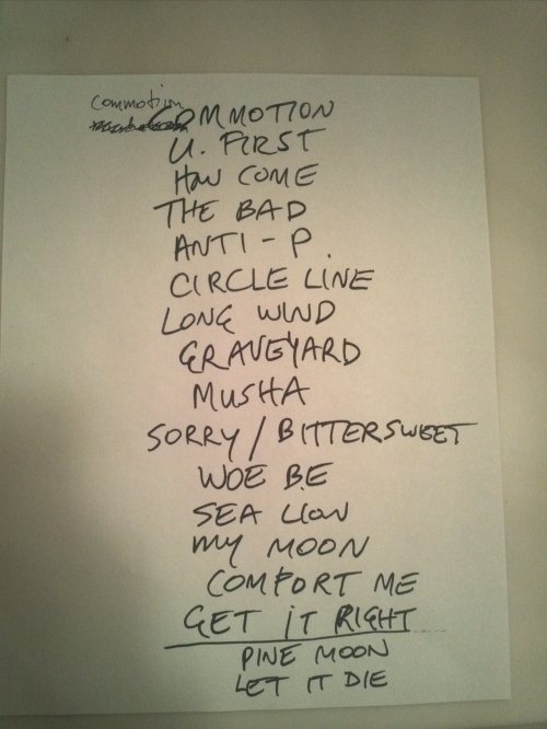 Feist set list